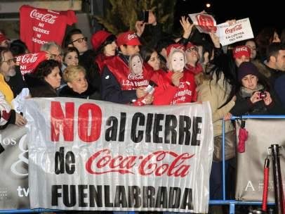 Protesta de los trabajadores de Coca-Cola