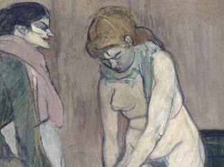 'Femme tirant son bas', 1894