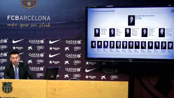 Josep María Bartomeu presenta su nuevo organigrama