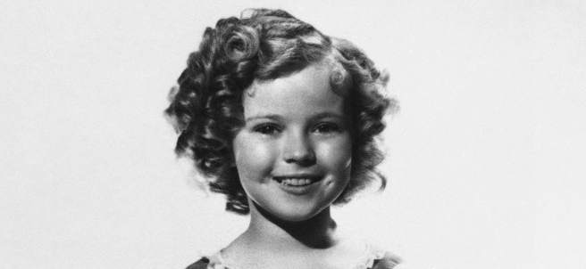 La actriz Shirley Temple.