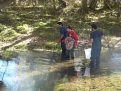Investigadores en el río Júcar