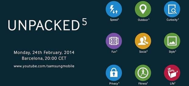 Samsung adelanta los nueve pilares clave de la presentación del Galaxy S5