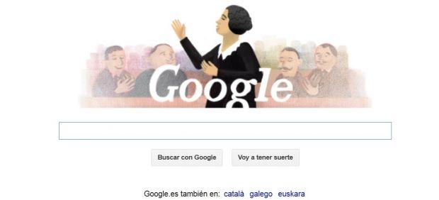 Google dedica su 'doodle' a Clara Campoamor, feminista que consiguió el voto para la mujer