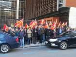Protesta de CC. OO. Aragón