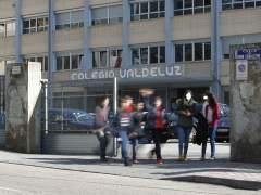 Exterior  del colegio Valdeluz, este jueves por la tarde.