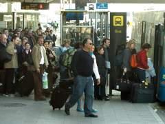 La huelga de taxis provoca colas en el Aerobús del Aeropuerto de Barcelona