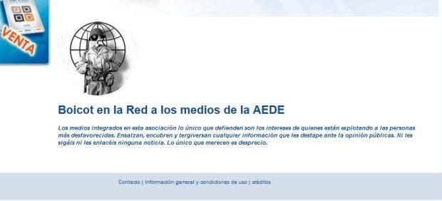 Anonymous 'hackea' la web de AEDE en protesta por la nueva Ley de Propiedad Intelectual