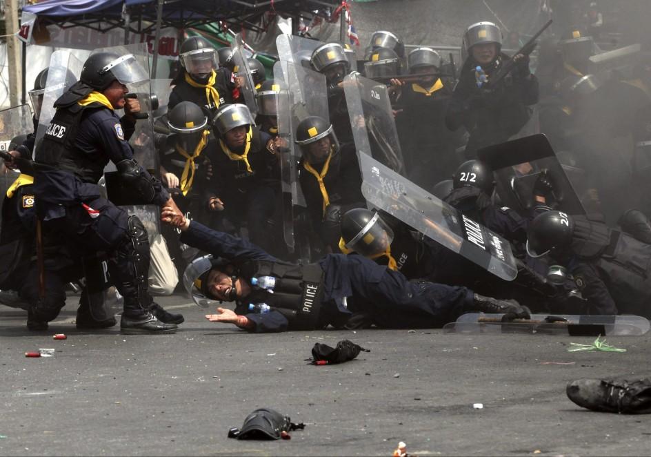 Manifestaciones sangrientas en Tailandia