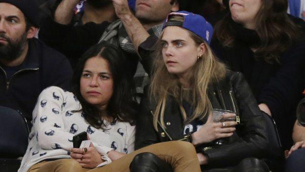 Michelle Rodriguez y la modelo Cara Delevigne