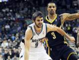 Ricky Rubio contra los Pacers