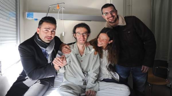 Chema, en el hospital