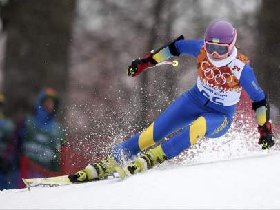La esquiadora ucraniana Bogdana Mazozka