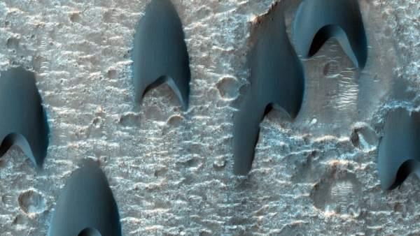 La NASA fotografía unas dunas 'Star Trek' en Marte