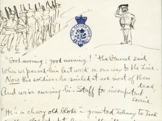 Siegfried Sassoon's 1917 manuscript of  'The General'