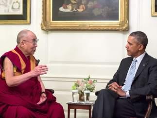 Obama y el Dalai Lama
