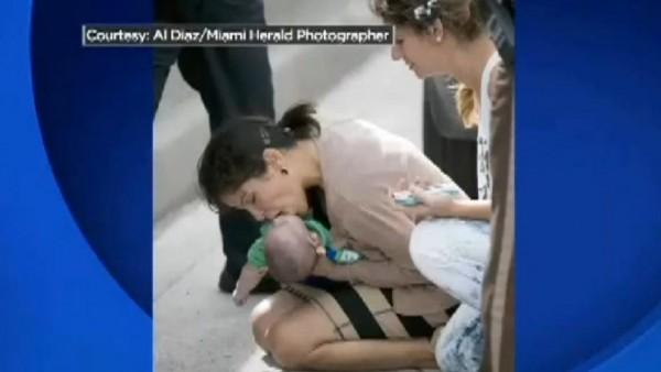 Un bebé salvado en Miami