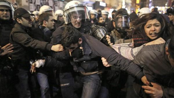 Protesta en Estambul