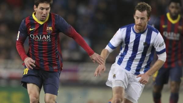 Messi y Zurutuza