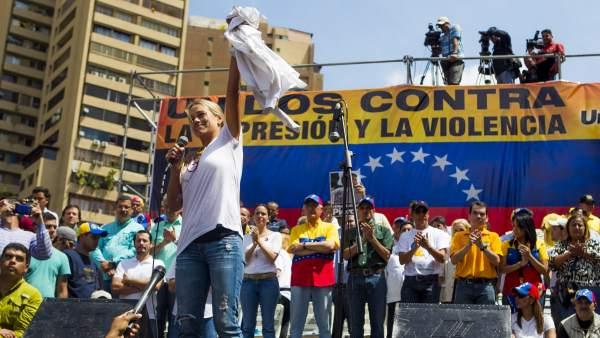 La mujer de Leopoldo López