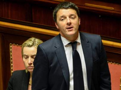 Matteo Renzi en la Cámara Alta