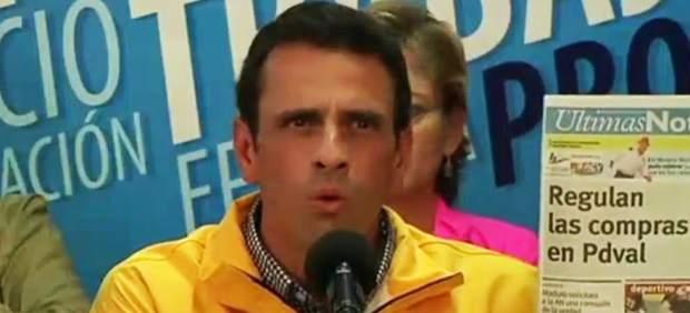 """Capriles pide desconocer el estado de excepción de Maduro: """"Que prepare los tanques"""""""