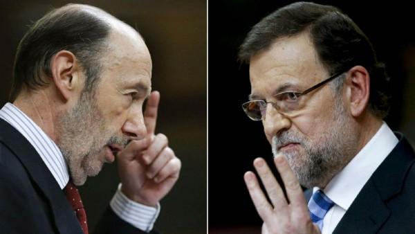 Alfredo Pérez Rubalcaba y Mariano Rajoy