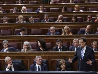 Rajoy, durante el debate del estado de la nación