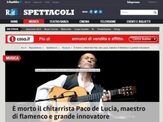 """La Reppublica: """"Maestro del flamenco y gran innovador"""""""