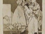 Ya van desplumados, grabado de Goya