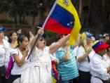 Marcha de mujeres en Caracas