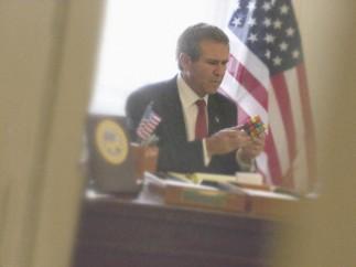 Bush with Rubik's Cube, 2005