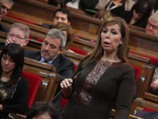 Alícia Sánchez-Camacho (PPC), durante la sesión de control del Pleno del Parlament del pasado miércoles.
