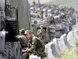 Tropas rusas en Osetia del Sur en 2008