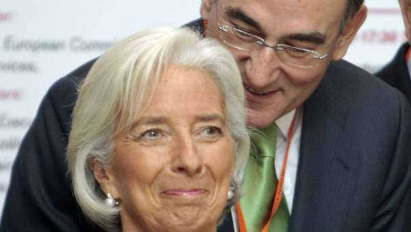 Lagarde y el presidente de Iberdrola