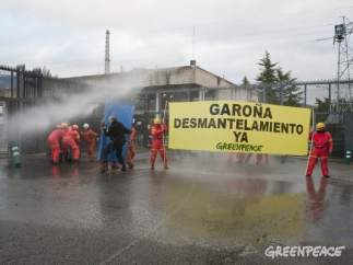 Greenpeace protesta en Garoña