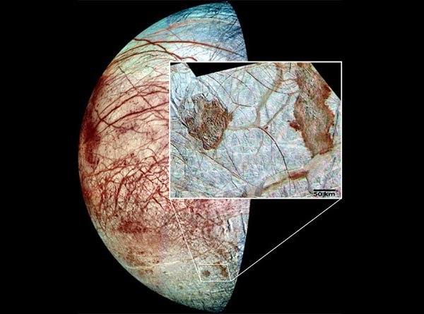 Resultado de imagen de La luna de Júpiter Europa