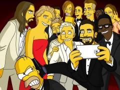 El 'selfie' de los Oscar, versión Simpsons