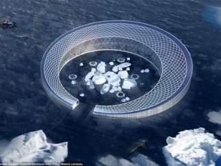 Proponen crear una ciudad en los glaciares de Groenlandia que convierte el agua en energía