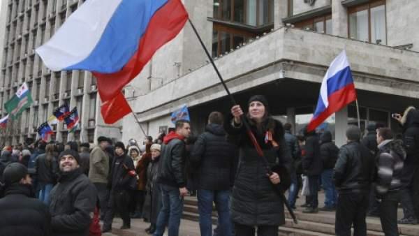 Prorrusos en Donetsk