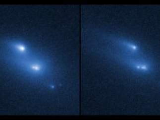El Hubble capta la desintegración de un asteroide