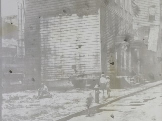 From the series Dust, Tenement row; demolition site, 1936, 2014