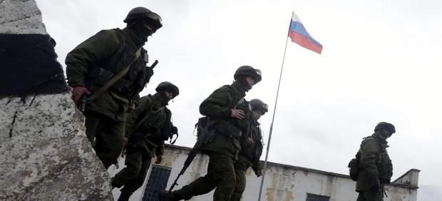 Soldados en Crimea