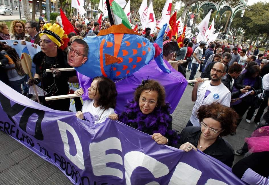 Las Palmas de Gran Canaria, contra la reforma del aborto