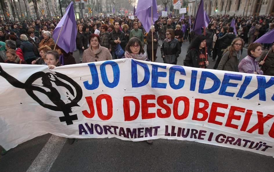 En Barcelona, contra el aborto
