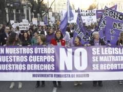 Protesta contra el aborto en Madrid