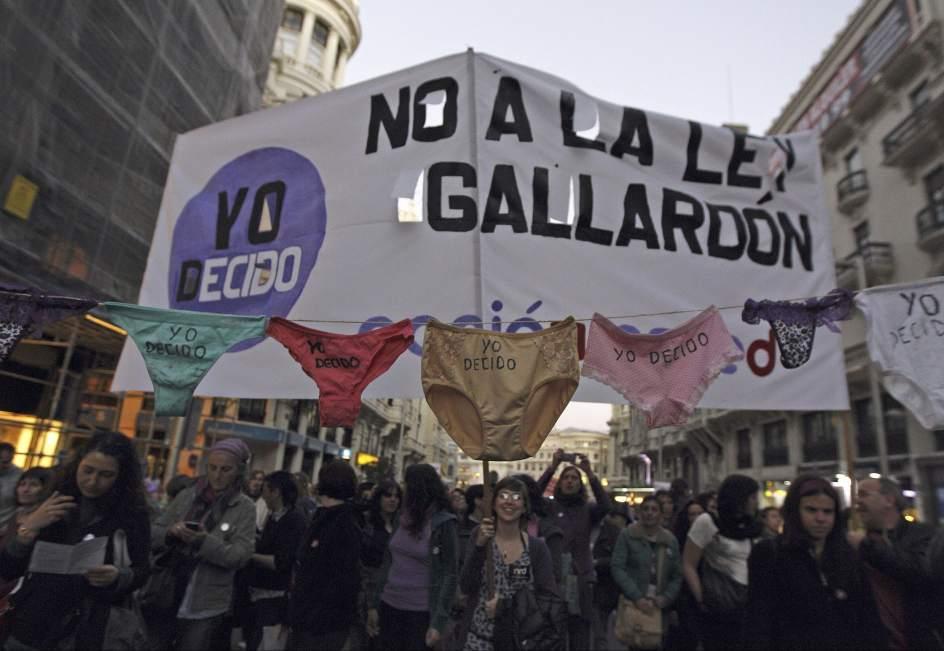 'No a la ley Gallardón'