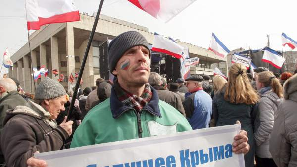 Manifestante prorruso