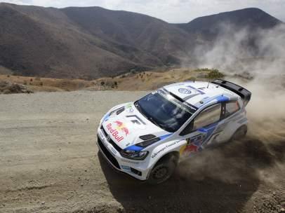 Sebastien Ogier, en el Rally de México 2014