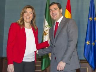 Juan Manuel Moreno y Susana Díaz
