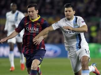 Messi y Agüero en el Barça - City